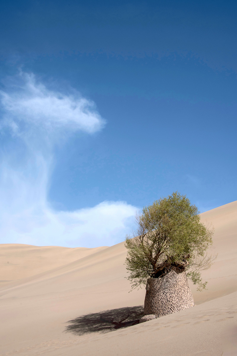 Sand dune of the Gobi Desert in Dunhuang, China