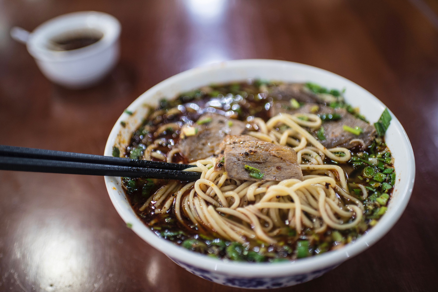 Beef Noodle Soup in Gansu, China