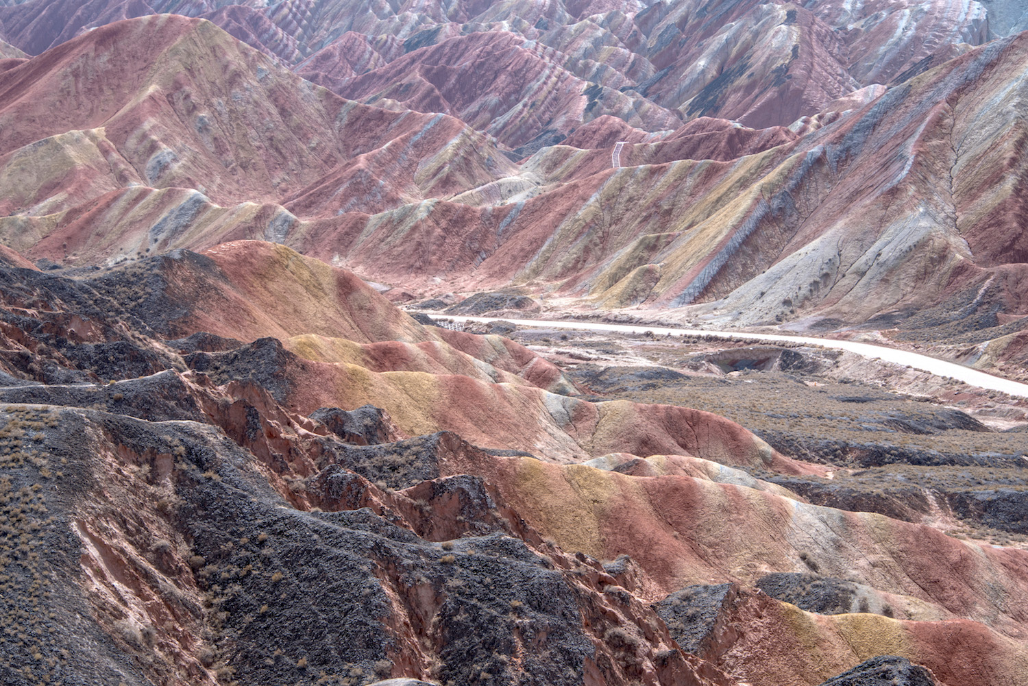 Danxia Landform in Gansu, China