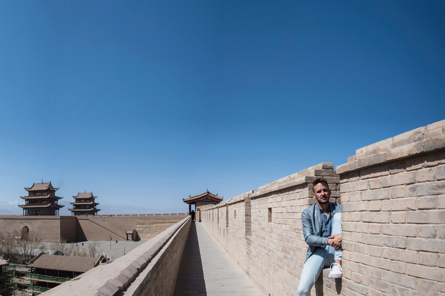 Robert Schrader in Gansu, China