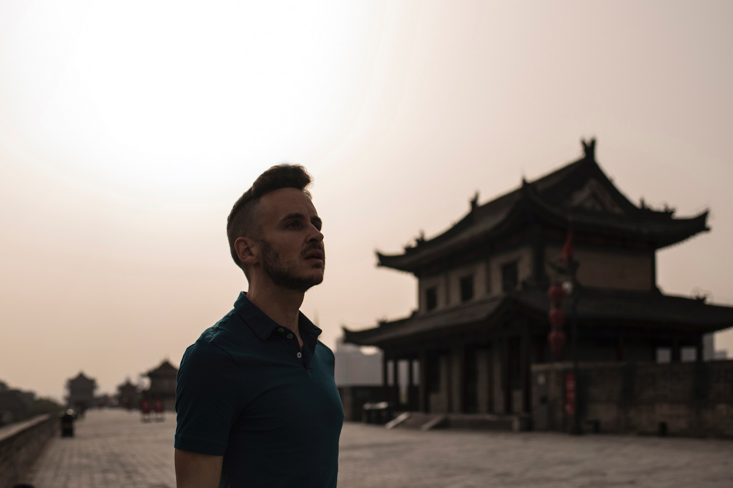 Robert Schrader in Xi'an, China