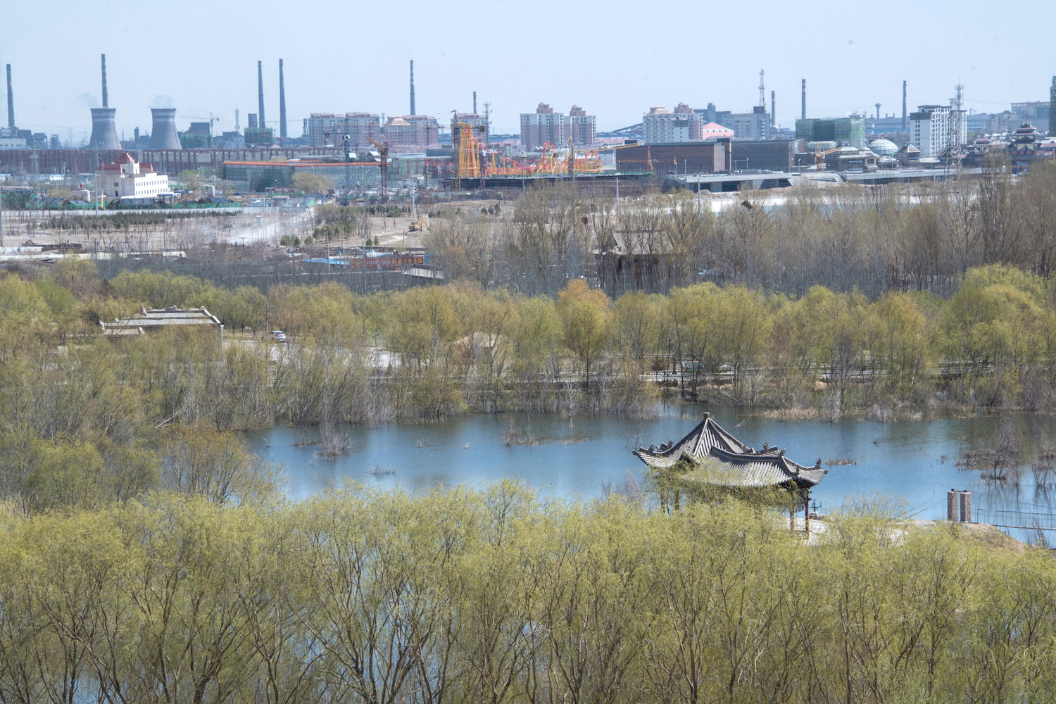 Industrial scene in Gansu, China