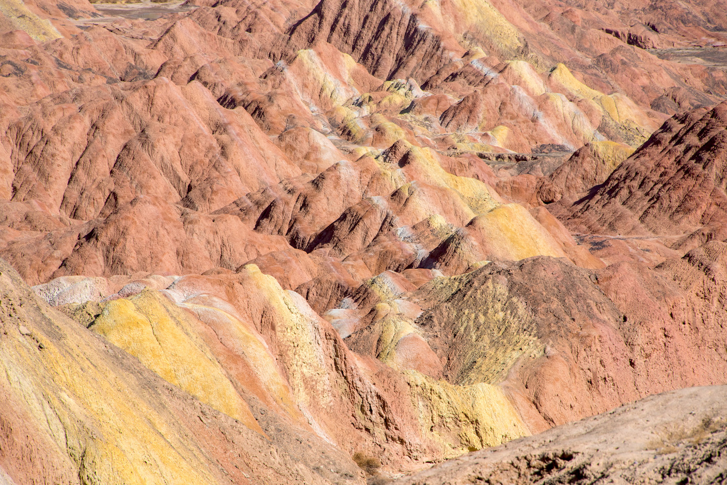 Rainbow mountains in Gansu, China