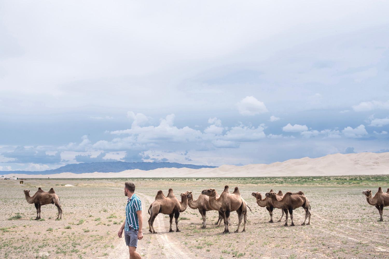 Robert Schrader in Mongolia's Gobi Desert