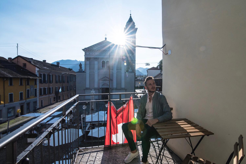 Robert Schrader in Locarno, Switzerland