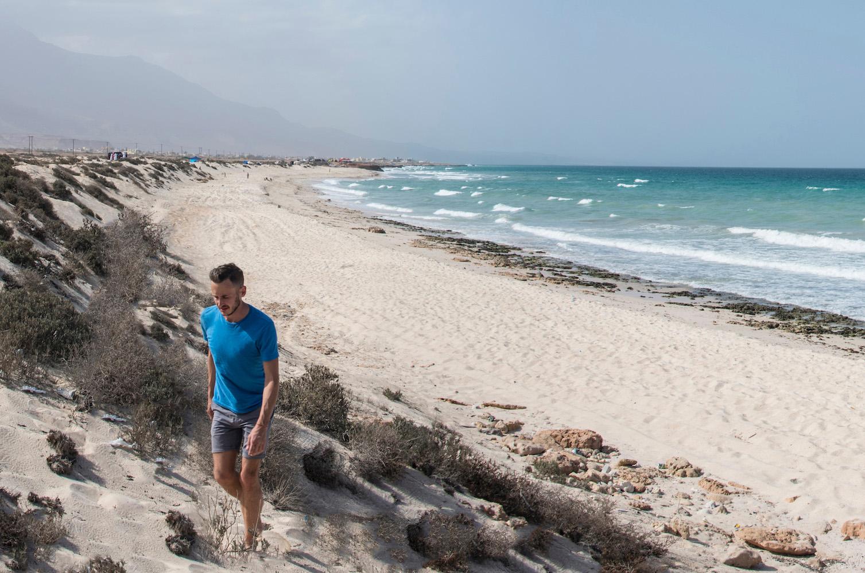 Robert Schrader on the Beach in Oman