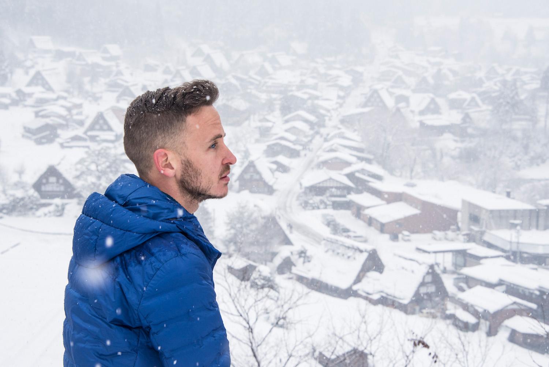 Robert Schrader in Japan in winter
