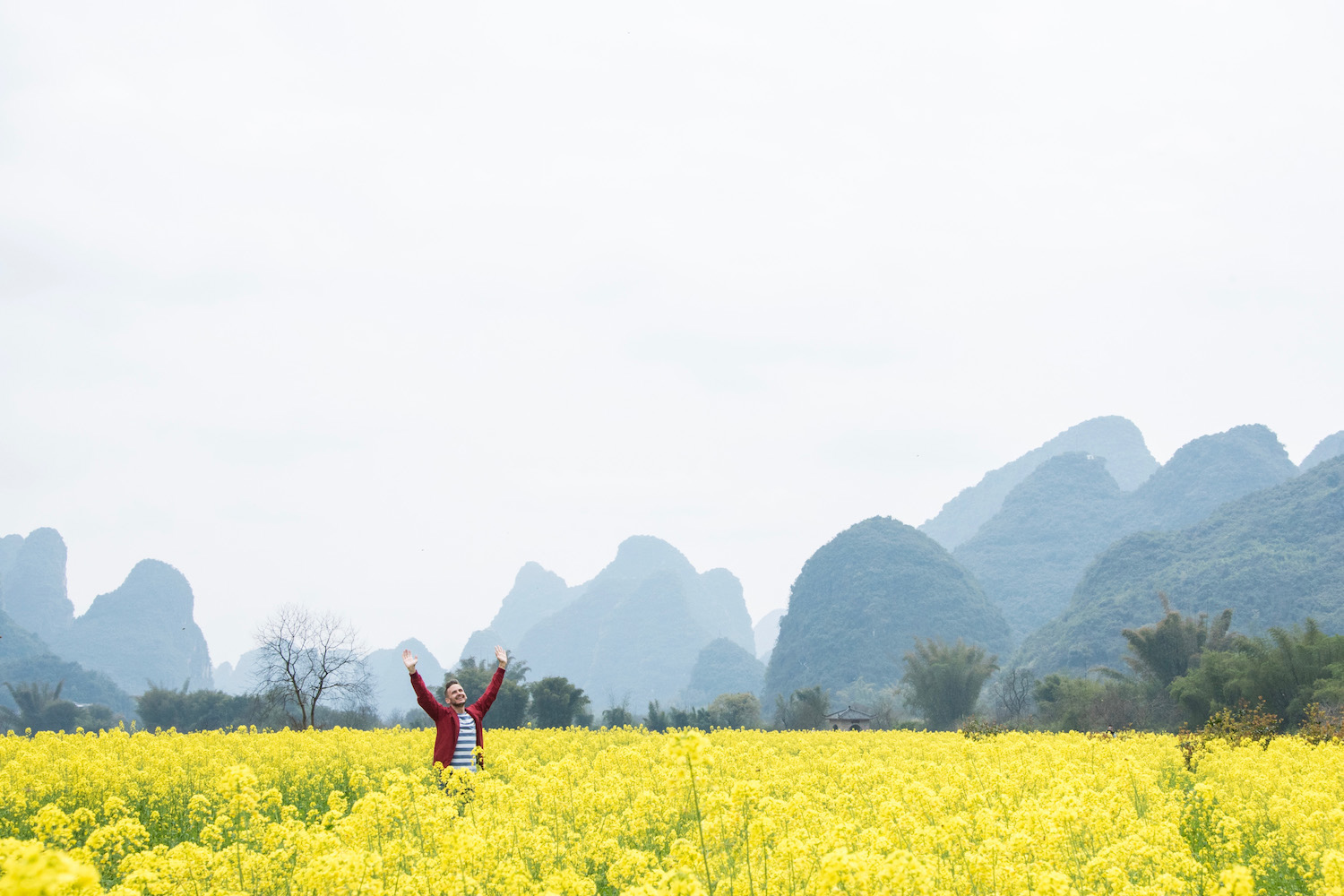Robert Schrader in Yangshuo, China
