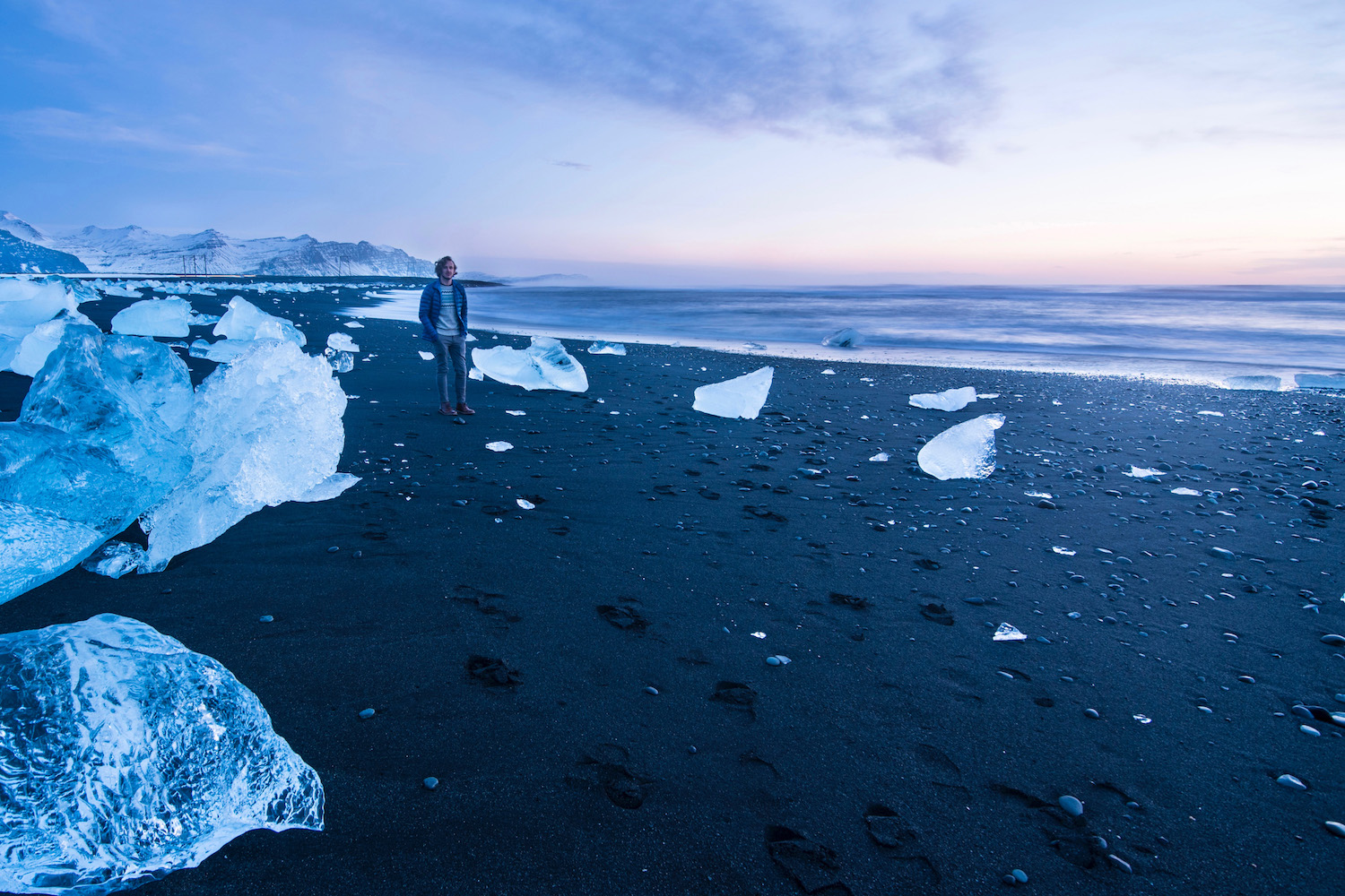 Robert Schrader on Diamond Beach, Iceland