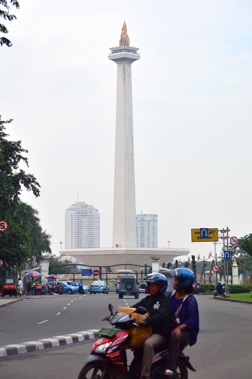 Jakarta blurred traffic