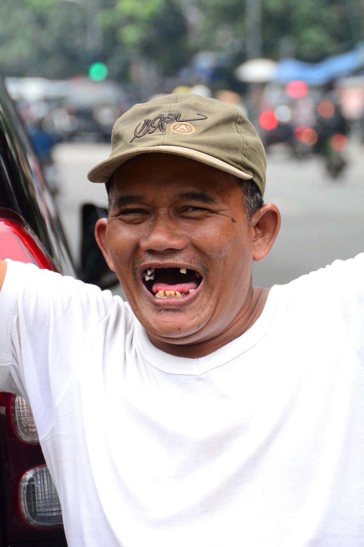 Jakarta smiling man