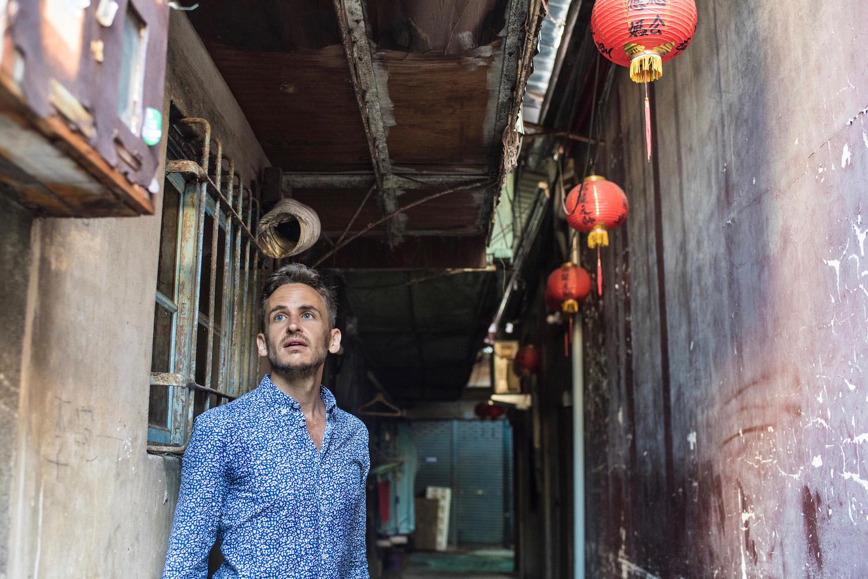 Robert Schrader in Tainan, Taiwan