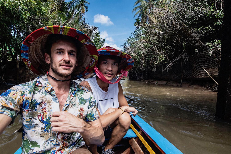 Robert Schrader in Mekong Delta, Vietnam