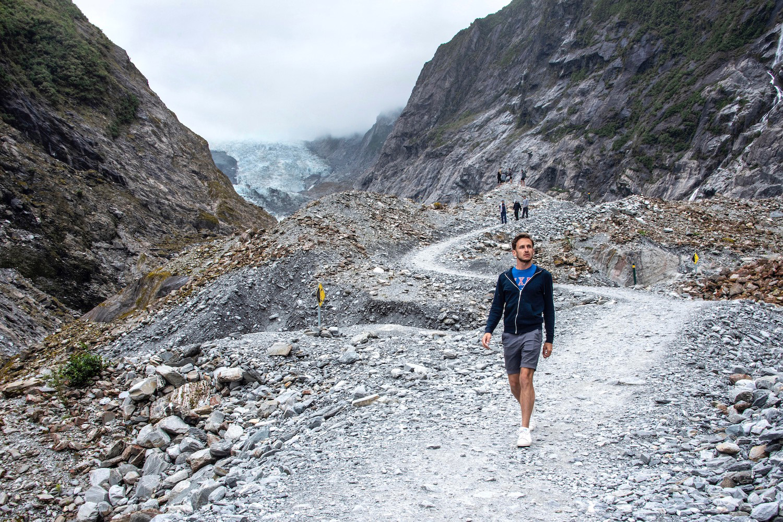 Robert Schrader at Franz Josef Glacier