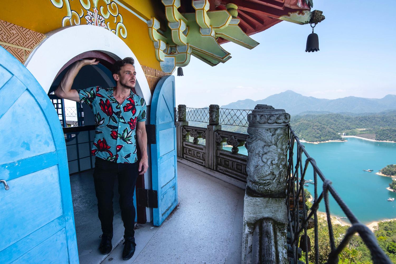 Robert Schrader at Sun Moon Lake, Taiwan